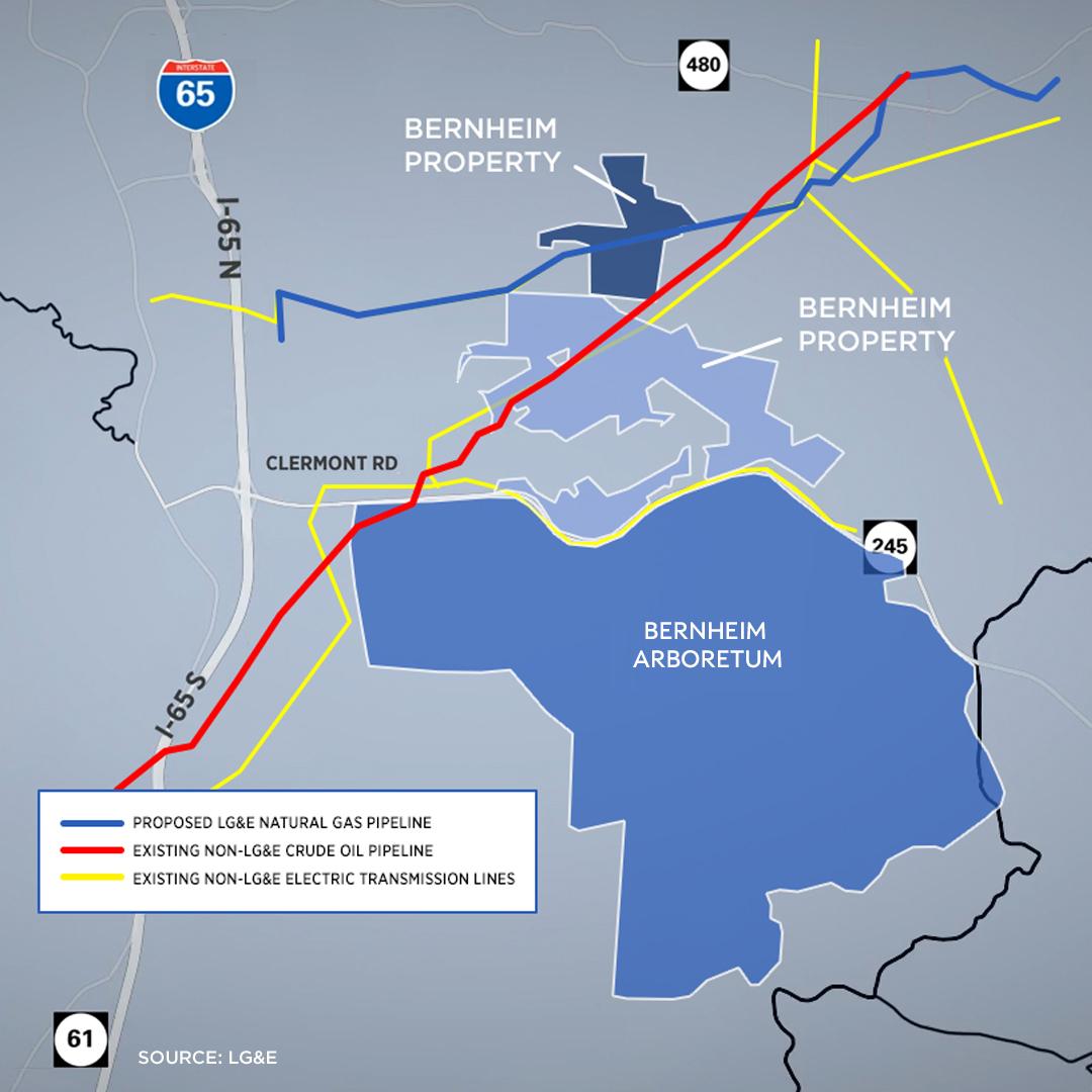 LG&E plans natural gas pipeline near Bernheim Forest